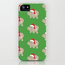 Santa Hippos iPhone Case