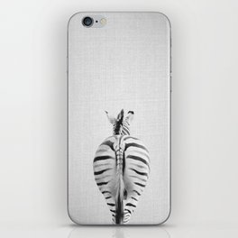 Zebra Tail - Black & White iPhone Skin