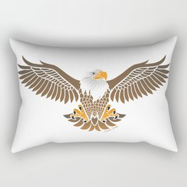 Eagle on White Rectangular Pillow