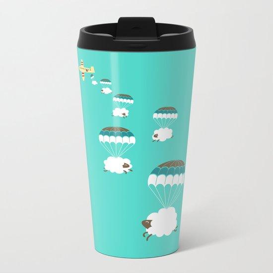 Sheepy clouds Metal Travel Mug