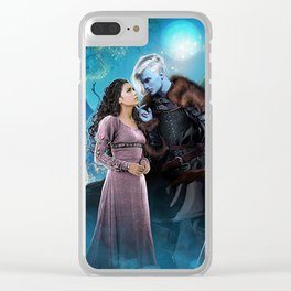 Bright of the Moon Clear iPhone Case