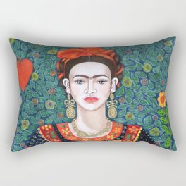 Frida, queen of Hearts Rectangular Pillow
