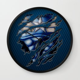 Modern Blue Captain steve iPhone 4 4s 5 5c 6, pillow case, mugs and tshirt Wall Clock