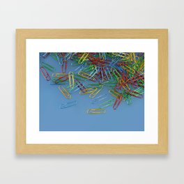 Paper Clips Framed Art Print