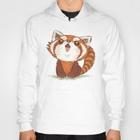 red panda Hoodies featuring Red panda by Toru Sanogawa