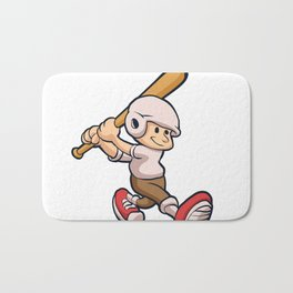 cartoon boy playing Bath Mat