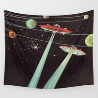 aliens Wall Tapestries featuring Aliens  by dreamshade