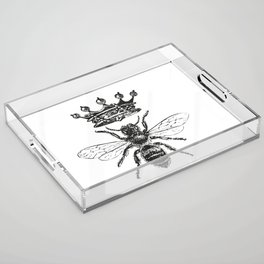 Queen Bee | Black and White Acrylic Tray