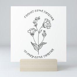 Lisianthus Flower Illustration — Floral Bouquet Inspirational Quote Design — Motivational Quote Art Mini Art Print
