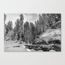 Oregon Adventures Black and White - Nature Photography Canvas Print