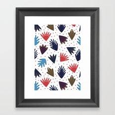 Scandi Leaves Framed Art Print