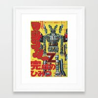 manga Framed Art Prints featuring Manga 01 by Zuno