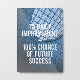 Motivational - 100% Chance of Success Metal Print