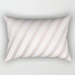 Rose Gold and Pink Diagonal Stripes Rectangular Pillow
