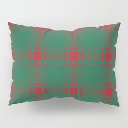 Minimalist Middleton Tartan in Red + Green Pillow Sham