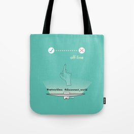 Off-line Tote Bag