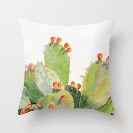 Cactus Watercolor 3 Throw Pillow