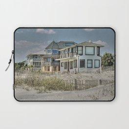 Tybee Island Beach Houses in Winter Laptop Sleeve