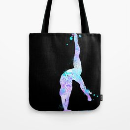Paint Splash Gymnast Tote Bag
