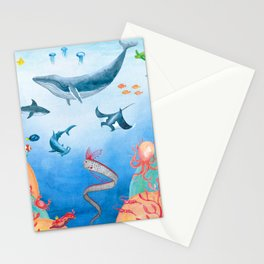 Message from the deep sea Stationery Cards