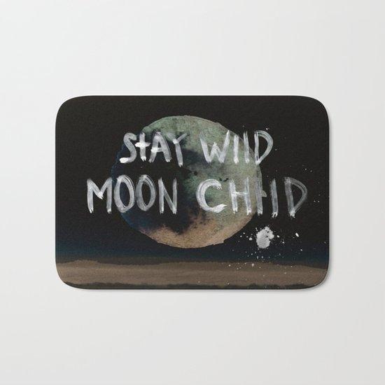Stay wild moon child (vintage) Bath Mat