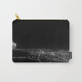 Chicago Skyline. Airplane. View From Plane. Chicago Nighttime. City Skyline. Jodilynpaintings Carry-All Pouch