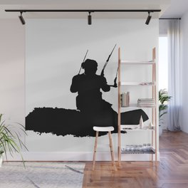 Wakeboarder Kitesurfing Silhouette Wall Mural