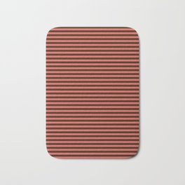 Striped, black, red Bath Mat