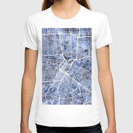 Houston Texas City Street Map T-shirt