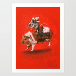 Rodent Rodeo Art Print