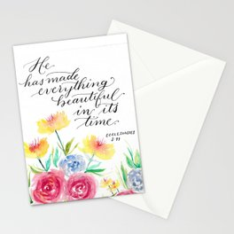 Ecclesiastes 3:11 - Bible Verse Stationery Cards