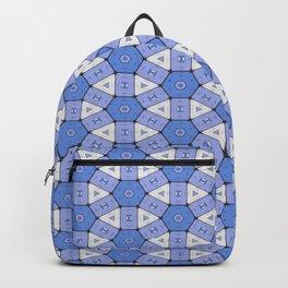 Blue Circle Cells Geometrical Pattern Backpack