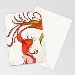Strawberry Hair Stationery Cards