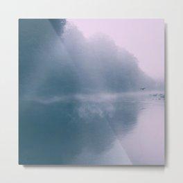 Pastel Serenity - Misty River Scene Metal Print