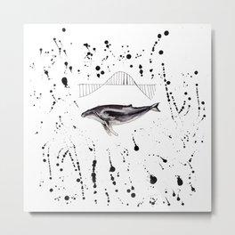 Whale wave Metal Print