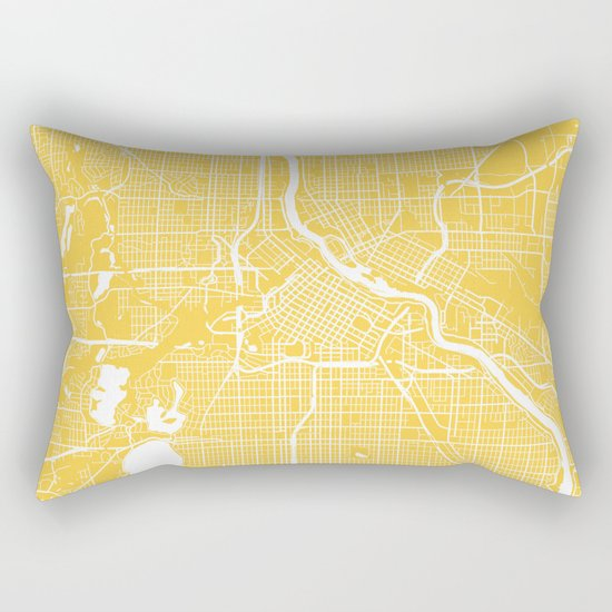 Minneapolis map yellow Rectangular Pillow
