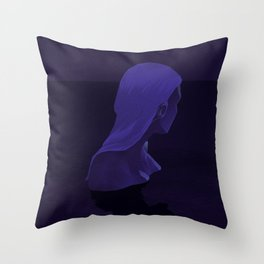 The Woman of the Midnight Bath Throw Pillow