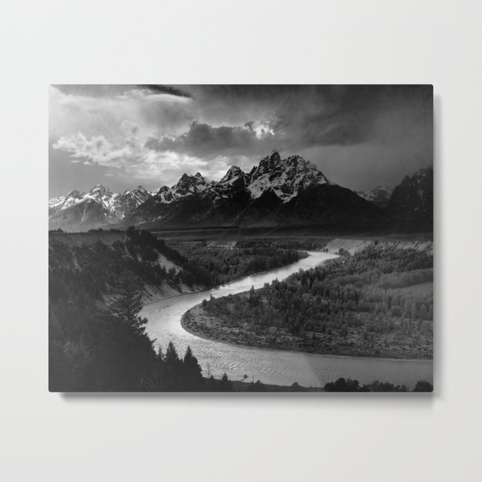 Ansel Adams - The Tetons and Snake River Metal Print