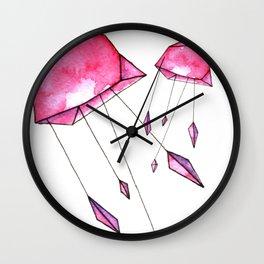 Geometric jellyfish Wall Clock