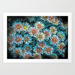 Van Gogh Blue Chrysanthemum Art Print