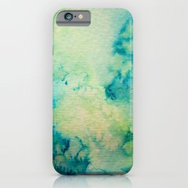 Watercolor wash - green iPhone Case