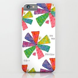 You Are Rainbow flower illustration floral pattern self-love pride iPhone Case