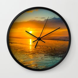 Low tide sunrise Wall Clock