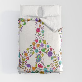 Cool Peace Tees For Boys And Girls Peace And Love 1969 Comforters