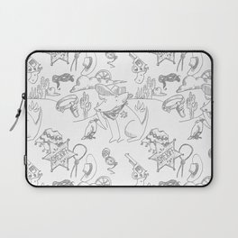 Cowboy Old West Dog Collage Laptop Sleeve