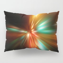 abstract acceleration speed motion on night road Pillow Sham