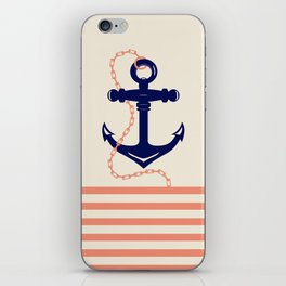 AFE Navy Anchor and Chain iPhone Skin