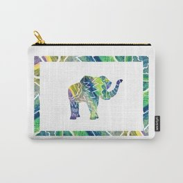 Patchwork Elephant Carry-All Pouch