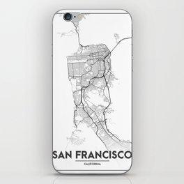 Minimal City Maps - Map Of San Francisco, California, United States iPhone Skin