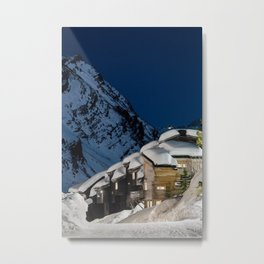 Rooftops & Mountains Metal Print